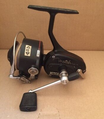 Vintage Mitchell Match 440A Fishing Reel, Spools Box & Papers: Working Order.