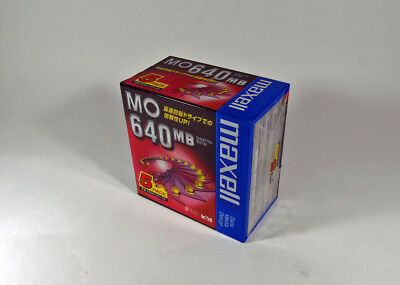 5pcs Unopened 3.5inch maxell 640MB MO disk (magneto optical disk) from Japan