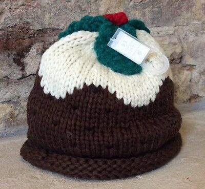 Next Christmas Pudding Hat 12-18 Months New With Tags