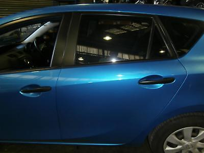 Mazda 3 Left Rear Door Window Bl, Hatch, 04/09-10/13 09 10 11 12 13