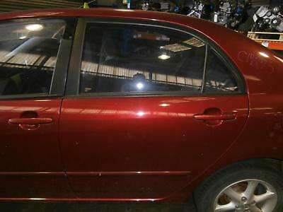 Toyota Corolla Left Rear Door Window Zze122 (Japan-Vin Jtd), Sedan, 12/01-04/07