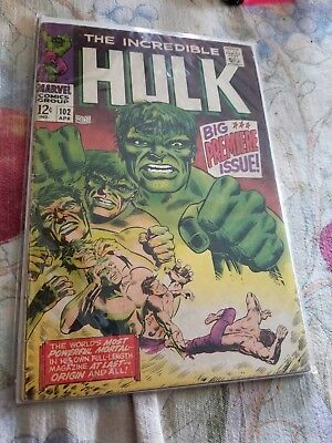 The Incredible Hulk #102 Premiere Issue 1968 GD/VG
