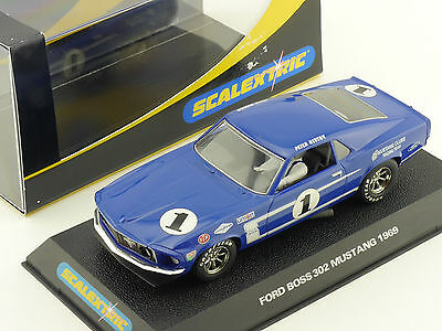 Scalextric C2576 Ford Boss 302 Mustang `69 No1 Slot Car 1:32 OVP 1602-18-03
