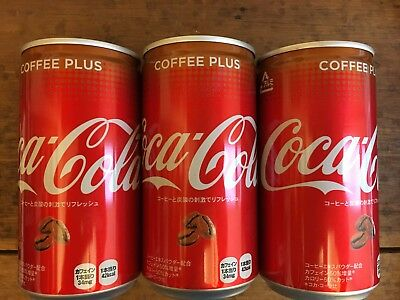 """Coca Cola Japan Limited, """"Coffee Plus"""" Coffee Flavor Cola, 190ml in Alu Can x 3"""