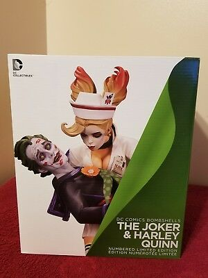 Dc Comics Bombshells The Joker & Harley Quinn Limited Edition Statue. Sealed.