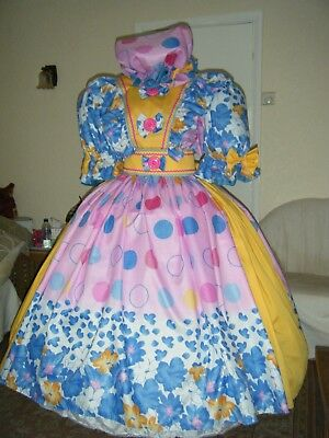 Bright New Pantomime Dame Costume Up To 60 Inch Chest. Theatre, Stage, Party.