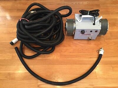 Breathe cool Supplied Fresh Air Turbine Respirator Blower With 50+ Hose!!