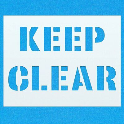 Keep Clear Road Parking Traffic Mylar Airbrush Painting Wall Art Crafts Stencil