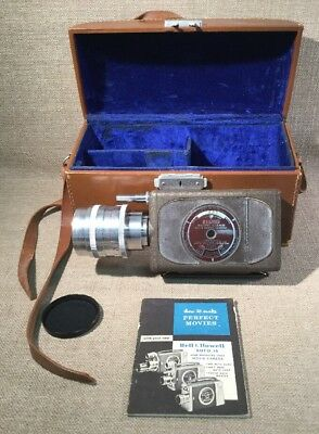 Bell & Howell Filmo Auto Load Camera W/ Cooke Lens Case Manual WORKS Good Cond