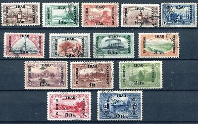 1918/21 Iraq British Occupation Yvert N. 26/39 Used  F862
