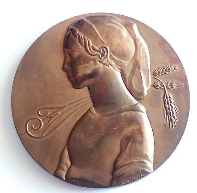 MEDAL BRONZE YOUNG PEYSANNE -credit french by SIMON (T186)