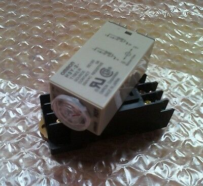Time relay Delay Timer 0-5 Second 24VDC & Base H3Y-2