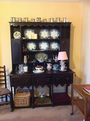 beautiful country antique, 18th C oak dresser
