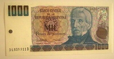 Banknote>Argentina>1000 Pesos A.>1983-85 Nd Issue>Unc Condition