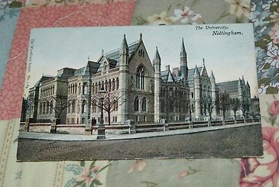 Woodbury Series Postcard Showing A View Of The University Nottingham Unposted.