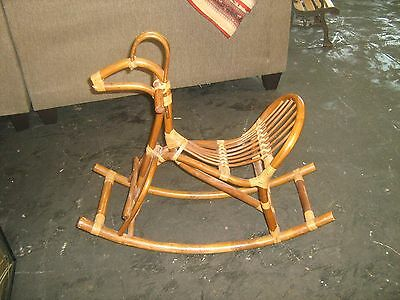Vintage Wooden Danish Style Rocking Horse Great for Heirloom or Photograher Prop