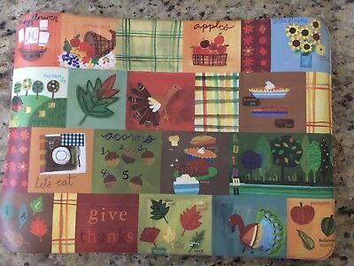 POTTERY BARN KIDS 5 Placemats THANKSGIVING
