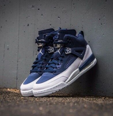 new product ae325 53a37 NIKE AIR JORDAN Spizike GS Navy White Retro 3 4 5 6 317321-406 Grade School  4-7