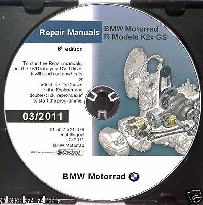DVD MANUALE OFFICINA REPROM WORKSHOP BMW R1200GS - R 1200 GS-ADVENTURE-6^ed.2011