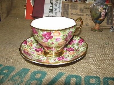 Royal Albert Old Country Roses Chintz Collection 1999 ENGLAND Teacup & Saucer