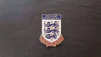 England Remembers poppy badge Wembley WW1 WW2 Falklands Ulster St.George