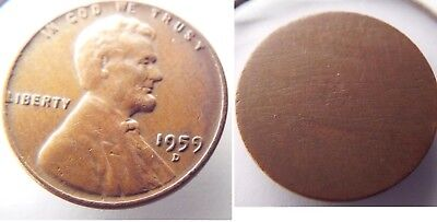 🇺🇸 1959-D 1C Lincoln Cent Penny *no Reverse Error* Us Mint Coin/ Free Shipping