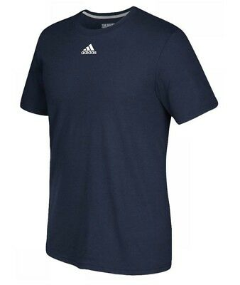adidas Men's Go To Performance Tee Athletic Navy Blue Short Sleeve T-Shirt Large