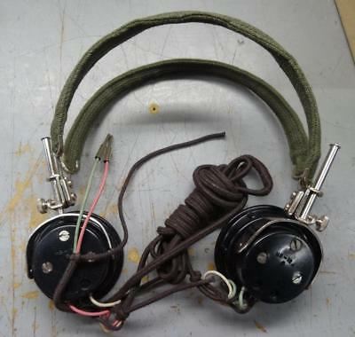 Radio Headset - Hs-16A - Military / Steampunk / Cosplay -  1966 Dated  #eq440