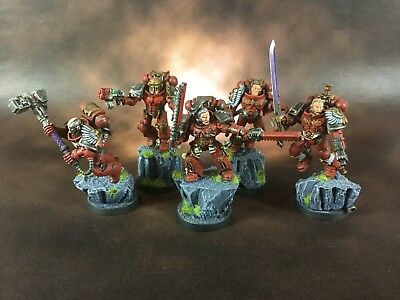 5X Blood Angels Space Marines Pro Painted Warhammer 40K
