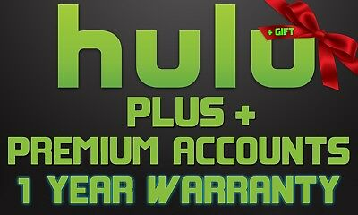 HULU Plus Premium Accounts No Commercials with 1 Year Warranty + SPECIAL GIFT!