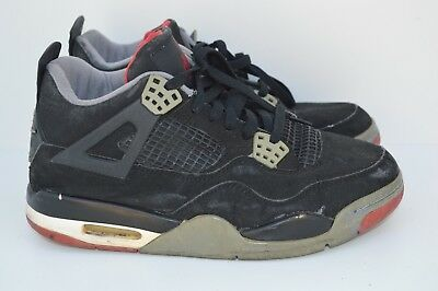 best sneakers efcd1 757b5 OG 1999 NIKE AIR JORDAN 4 IV RETRO BLACK CEMENT BRED 136013 001 SZ 9 Beaters