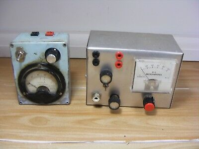 Vintage Radio Broadcasting CB Microamperes Meter Dwell Degrees Dials Frequency
