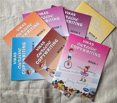 Cursive hand writing Copy handwriting Activity Book Age 4 above running neat