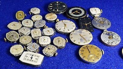 alot antique wrist watch for repair or part longines,Bulova,elgin,hamilton& more