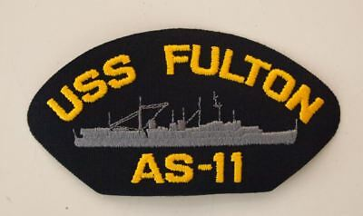2 US Navy USS Fulton AS-11 Patches Ship Boat Patch