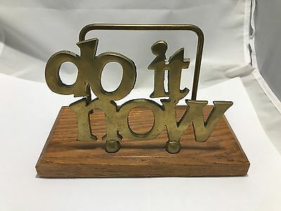 Do It Now Inspirational Mail Letter Metal/Wood Holder - Room/House Decoration