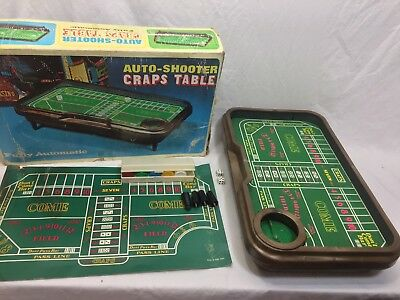 Vintage AutoShooter Craps Table Automatic With Chip Case and Chips in Box