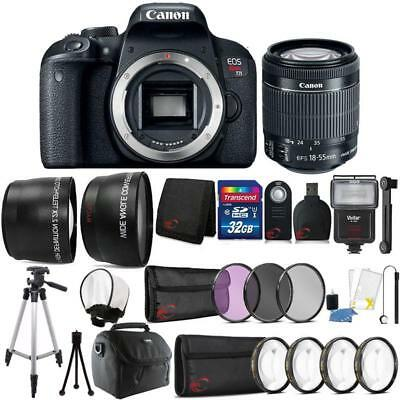 Canon EOS Rebel T7i 24.2MP SLR Camera + 18-55mm Lens and Accessories