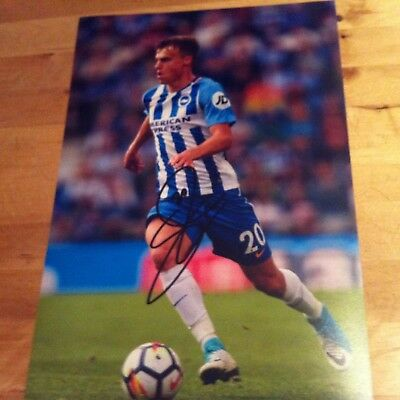 BRIGHTON signed Solly March 12x8 photo 2017-2018 signed autograthed -