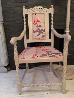 Flamingo Throne Carver Louis Chair Vintage