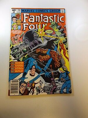 Fantastic Four #219 signed by Joe Sinnott and Bill Sienkiewicz VF- condition