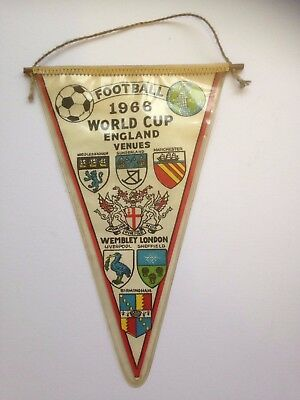 England World Cup 1966 Pennant ( Double Sided) Ex Clean Condition