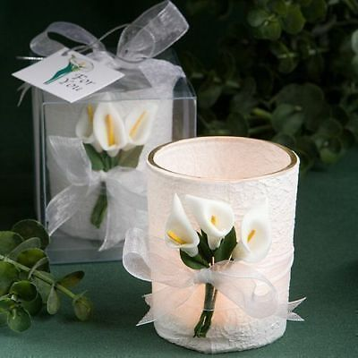 70 - Stunning Calla Lily Design Candle   - Wedding Favors