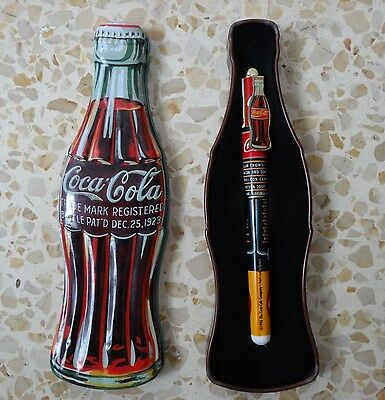 COCA COLA 1996 PEN tin box case