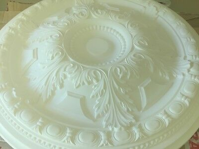 Plaster Ceiling Rose - White, Elegant and Large 710mm Qty 4