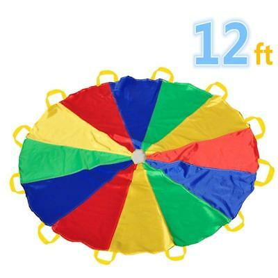 Parachute 12 Foot for Kids with Handles Play 8 kids tent Picnic Mat Blanket