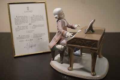 Lladro #5915 Young Mozart With Certificate #1744 Of 2500 Signed