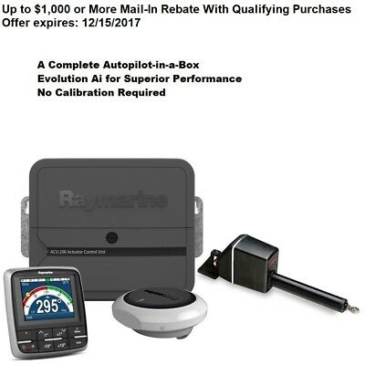 Raymarine EV-200 Sail Linear Drive Evolution Complete Autopilot-in-a-Box