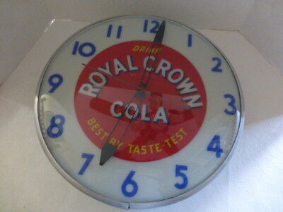 Mid century Royal Crown Cola Clock. Gorgeous and Works.