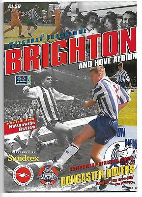 Brighton v Doncaster Rovers (1997 Football Programme)